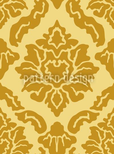Pop Baroque Gold Vector Pattern