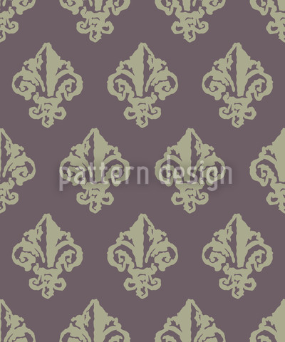 Lady De Winter Grau Muster Design