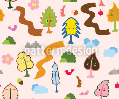 Tree Friends Pattern Design
