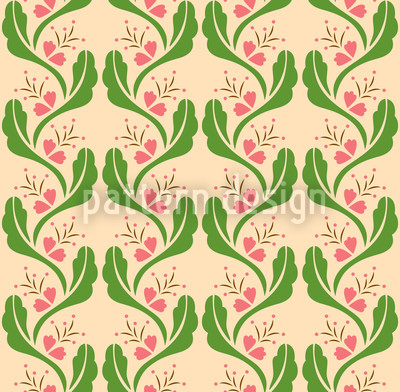 Ranken Rosa Vektor Muster