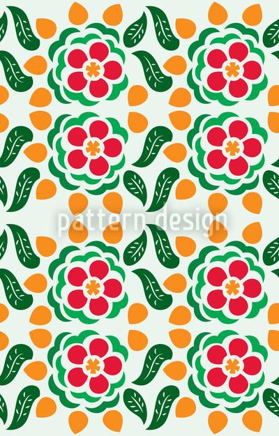 Polka Floral Pattern Design
