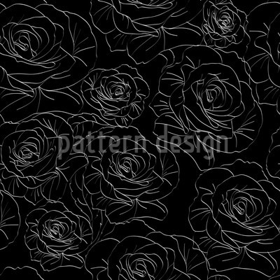 White Roses Seamless Vector Pattern