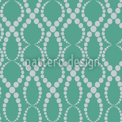 Smaragd Perlen Muster Design