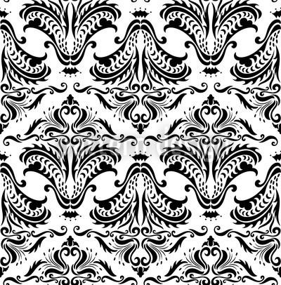 Opulenz Weiss Designmuster