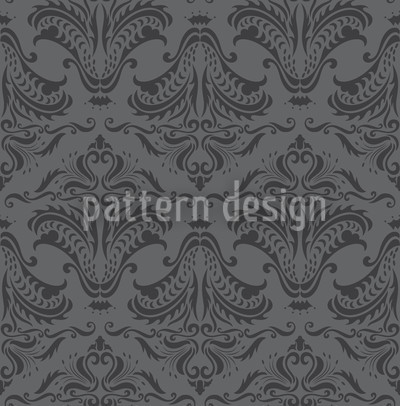 Opulence Dark Grey Seamless Vector Pattern