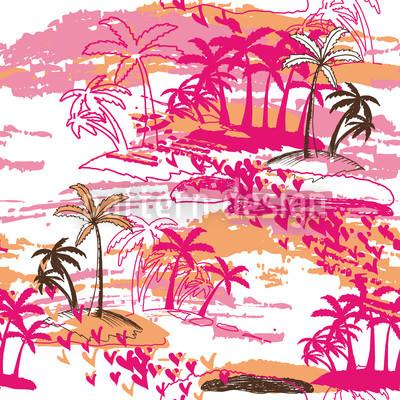 Tropisches Paradies Vektor Design