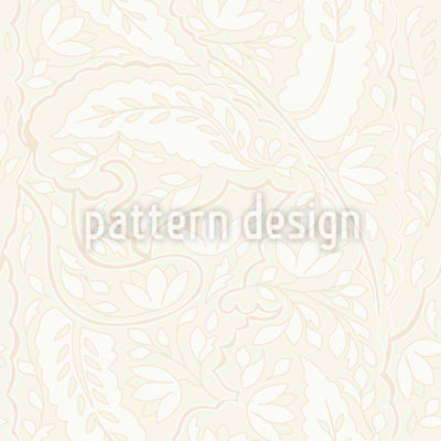 Leaves And Flowers Paisley Design Pattern