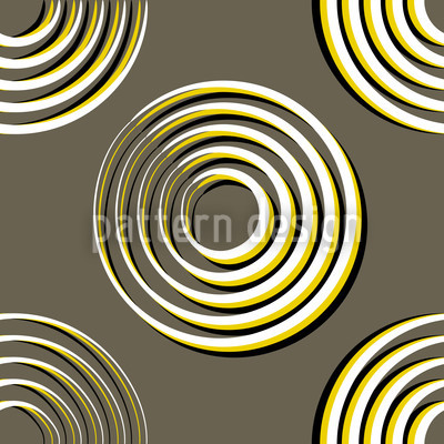 Hypnoring Seamless Vector Pattern