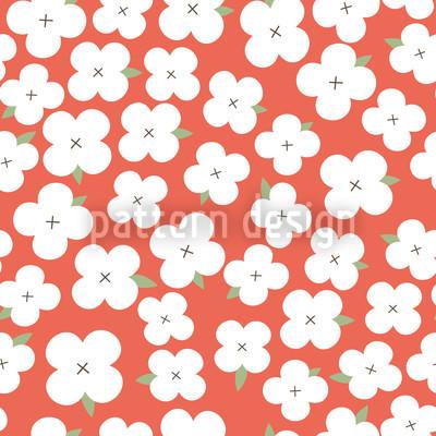 Kirschblütenmeer Nahtloses Vektor Muster