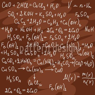 Chemische Formeln Nahtloses Vektor Muster