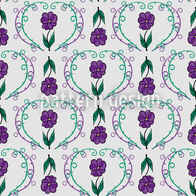 Flowers With Tendrils Design Pattern