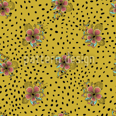 Flower Fur Pattern Design
