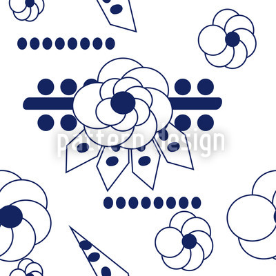 Flowers Blues Vector Pattern