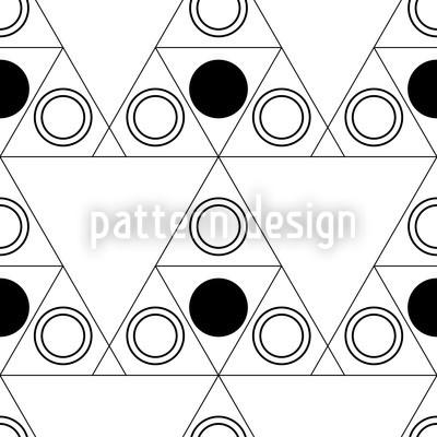 Triple Dot Schwarz Muster Design