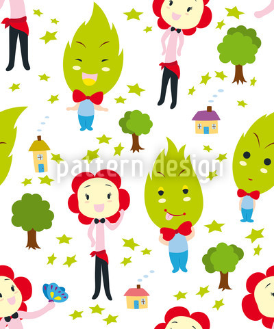 Family Green Pattern Design