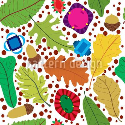 Herbst Schätze Nahtloses Muster