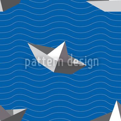 Papierschiffchen Vektor Muster