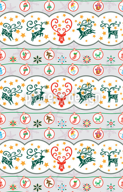 Merry Stag Night Pattern Design