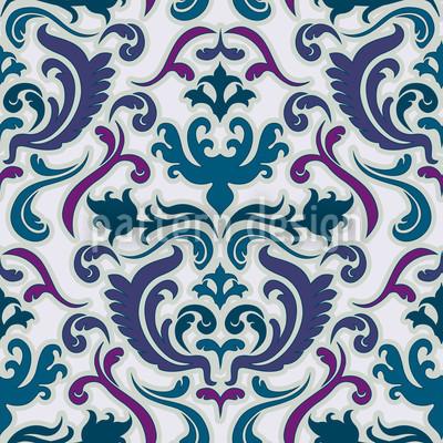 Bon Apart Blue Seamless Vector Pattern