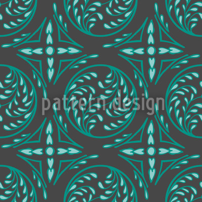 Pintoretto Mint Seamless Vector Pattern