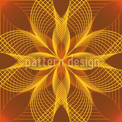 Flower Geometry Repeat Pattern
