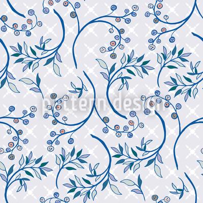 Heidelbeeren Blau Muster Design