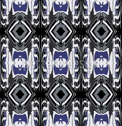 Ultrasonic Blue Seamless Vector Pattern