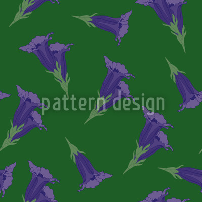 Gentian Green Repeating Pattern