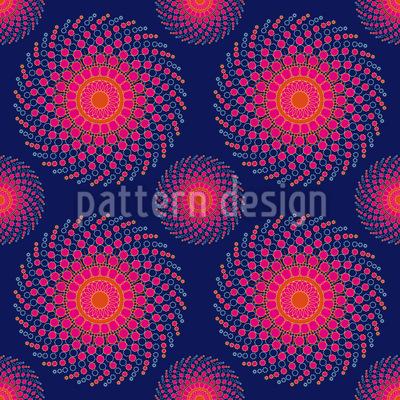Spiral Nebula Seamless Pattern