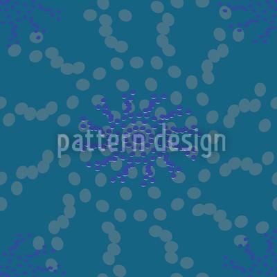 Punktierte Blumen Designmuster