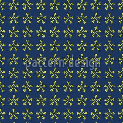 Flower Crossover Seamless Vector Pattern