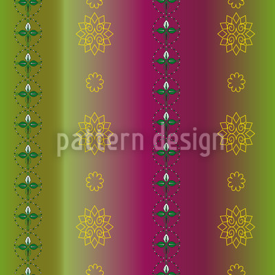 Flowers And Leaves Pattern Design