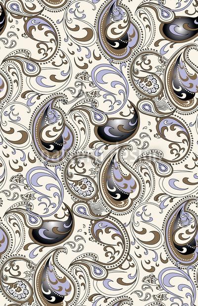 Paisley Ocean Pattern Design