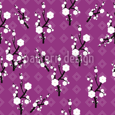 Hanami Purple Vector Design