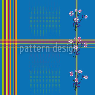 Garden By The Sea Seamless Vector Pattern