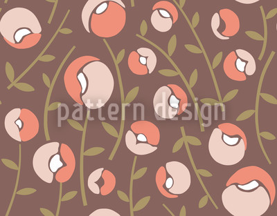 Lady Shoes Brown Seamless Pattern