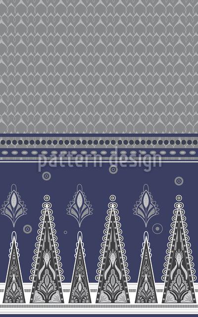 Sari Im Winter Muster Design