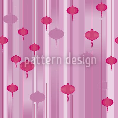 Lanterns In Twilight Vector Ornament