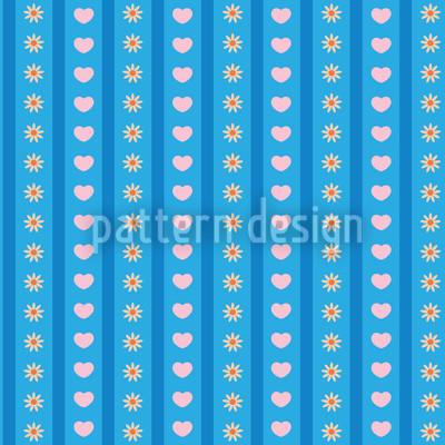 Blumen Und Liebe Nahtloses Muster