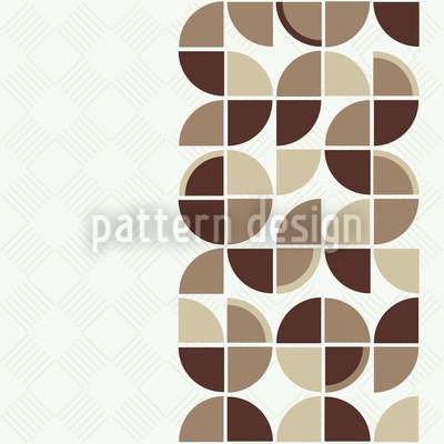 Retropolis Brown Seamless Vector Pattern