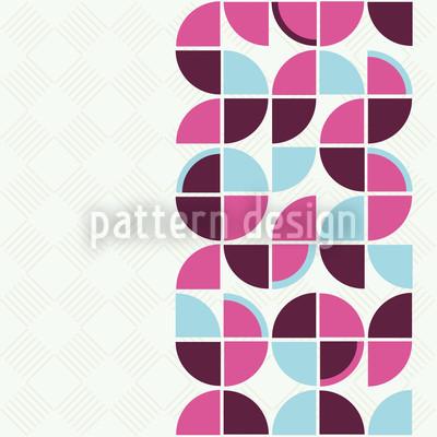 Retropolis Pink Vektor Muster