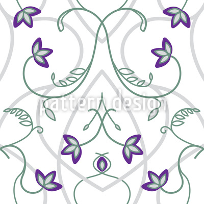Flowers On The Gothic Gate Vector Ornament