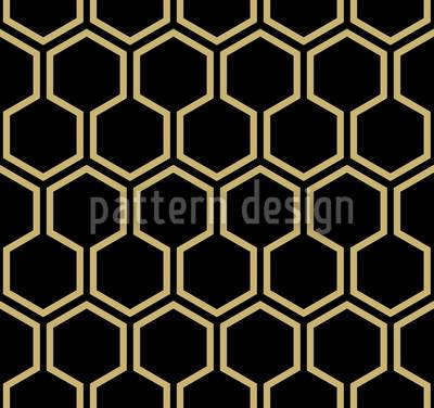 Black Honey Seamless Pattern