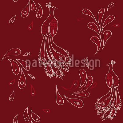 Maharani Red Pattern Design