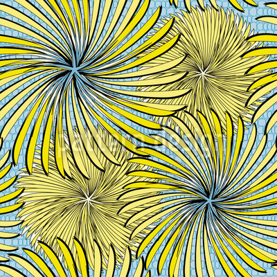 Radschlagen In Blau Nahtloses Vektor Muster