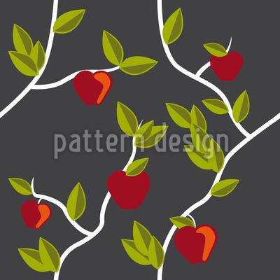 Der Garten Eden Grau Nahtloses Vektor Muster