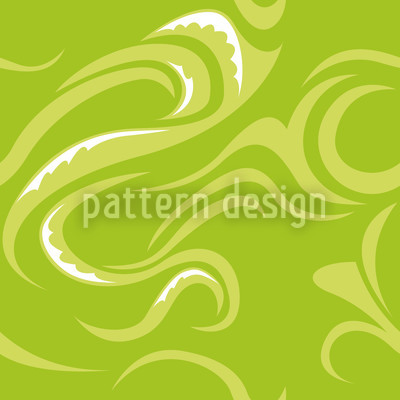 Pikea Green Repeat Pattern