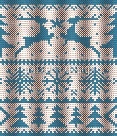 Wolliger Wildwechsel Blau Muster Design