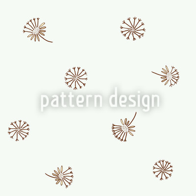 Löwenzahn Braun Vektor Muster
