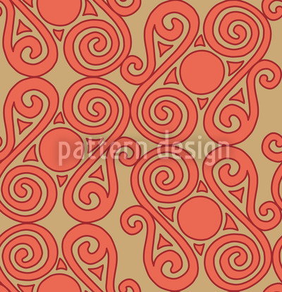 Cucuteni Spirals Seamless Pattern